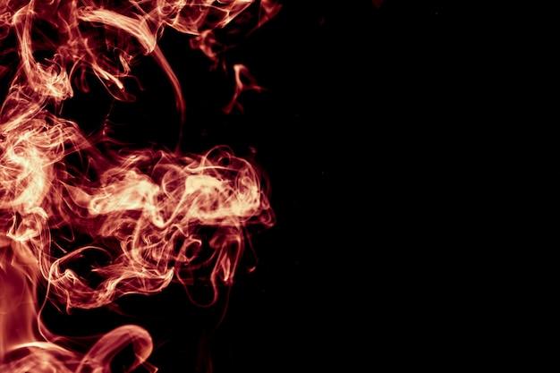 Fumo rosso sfondo astratto. Foto Premium