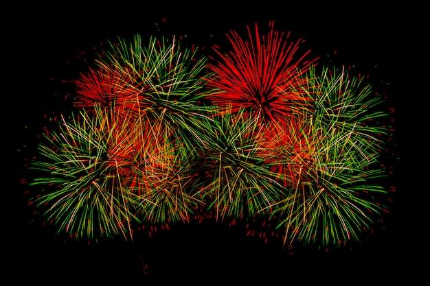 Fuochi d'artificio per il felice anno nuovo Foto Premium