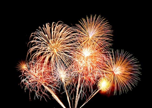 Fuochi d'artificio sul cielo Foto Premium