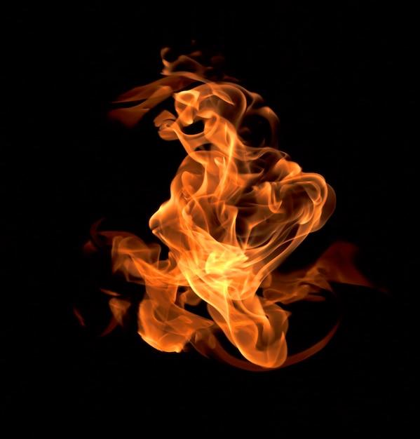 Fuoco fiamme sullo sfondo Foto Premium