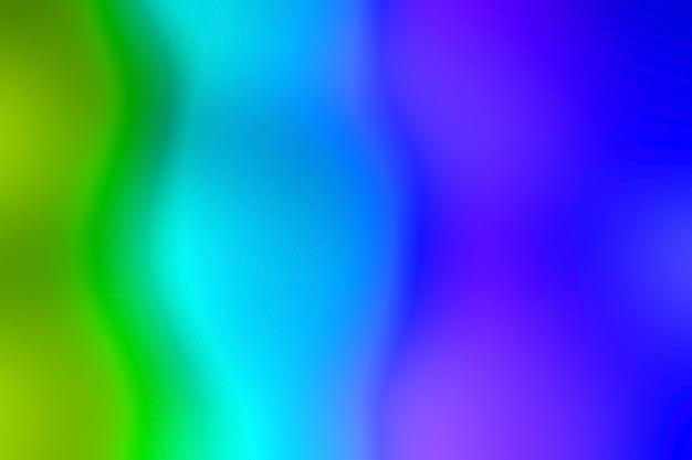 Fuori fuoco vibrante verde e blu Foto Premium