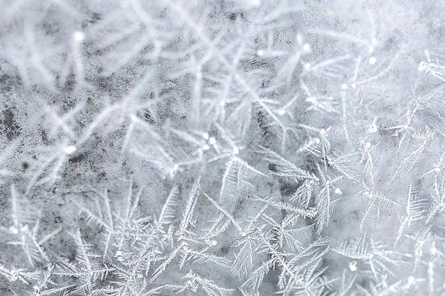 Gelo su una finestra Foto Gratuite