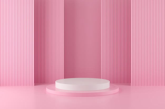 Geometria astratta forma di sfondo con podio minimalista Foto Premium