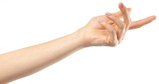 Gesto della mano femminile Foto Premium