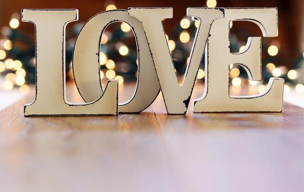 Ghirlanda di parole amore e luci Foto Gratuite
