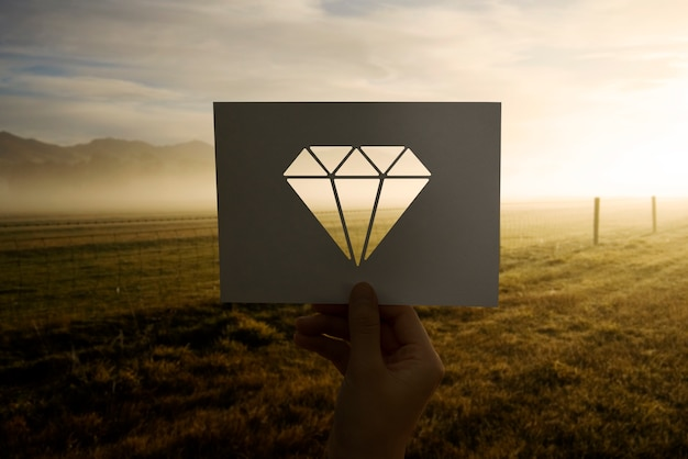 Gioielli di valore in carta perforata diamantata Foto Gratuite