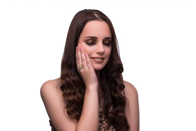 Giovane donna nel concetto di bellezza Foto Premium