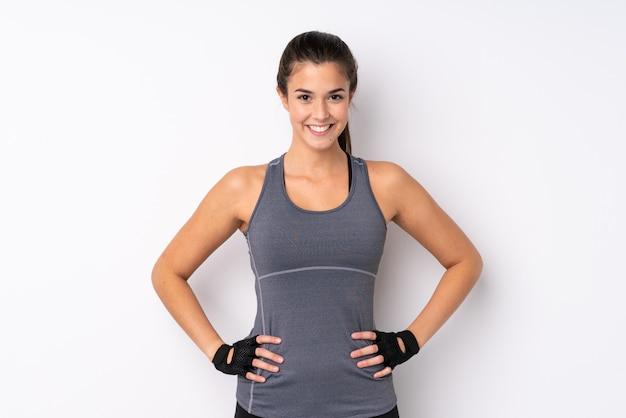 Giovane ragazza sportiva Foto Premium