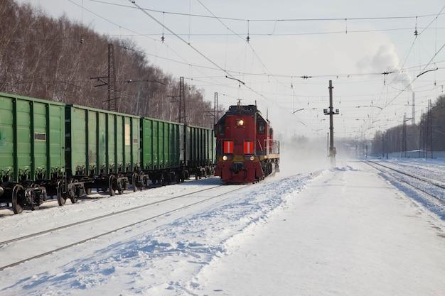 Gite in locomotiva su rotaie Foto Premium
