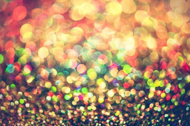 Glitter oro bokeh colorfull sfondo sfocato astratto per compleanno, anniversario, matrimonio Foto Premium