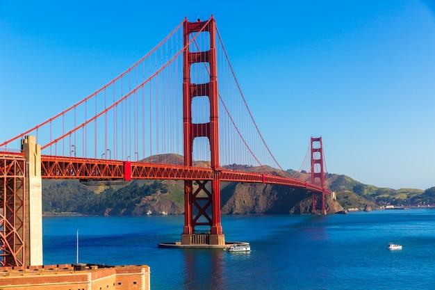 Golden gate bridge san francisco da presidio california Foto Premium