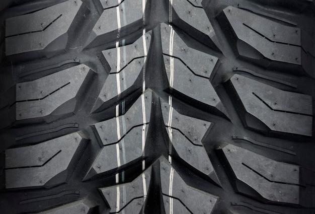 Gomma di automobile, primo piano di struttura della gomma. Foto Premium