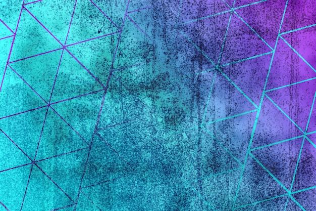 Gradiente viola blu del fondo di struttura della parete vaga forma astratta del triangolo Foto Premium