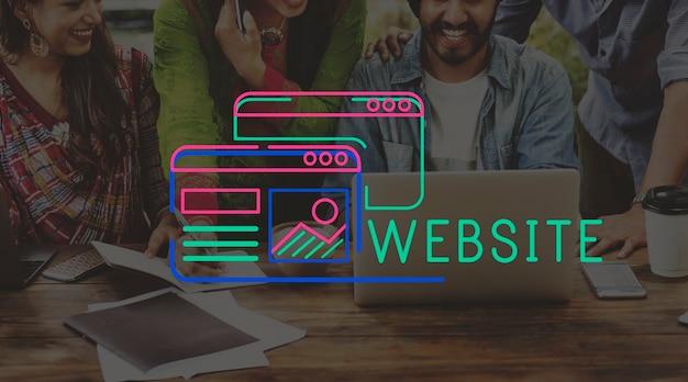 Grafica di layout del contenuto di design del sito web for Sito di design