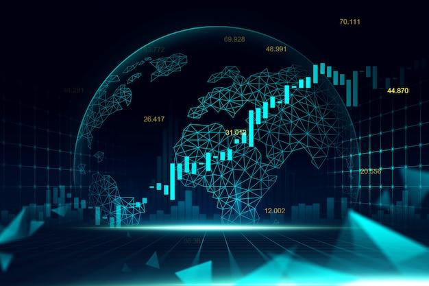 Grafico del mercato azionario o forex Foto Premium