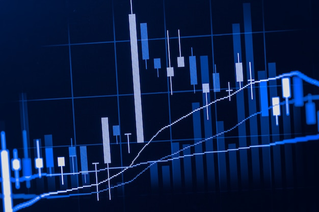 Grafico dell'indice dell'analisi dei dati di borsa del mercato finanziario Foto Premium