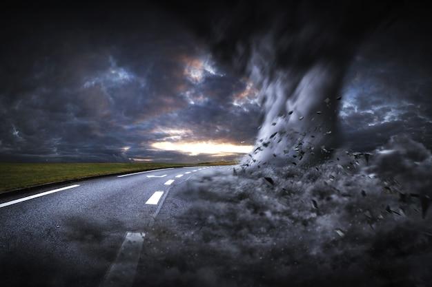 Grande disastro di tornado Foto Premium