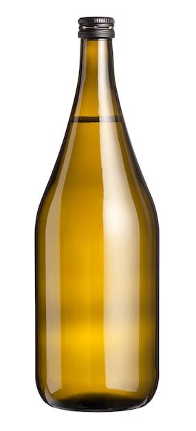 Grande magnum senza etichetta di vino bianco Foto Premium