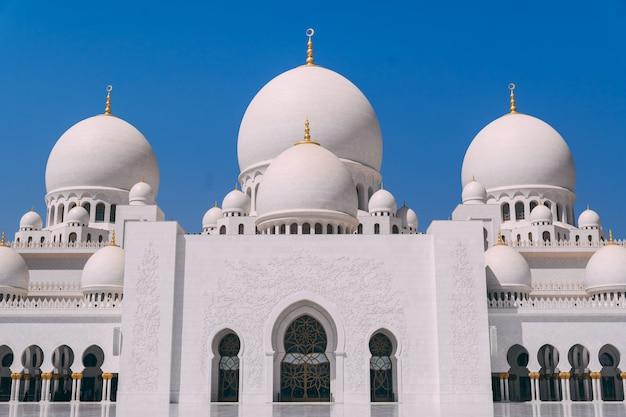 Grande moschea di abu dhabi Foto Premium