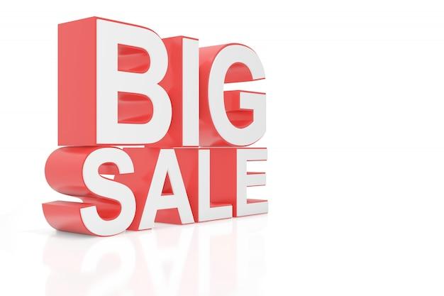 Grande vendita per il sito web. rendering 3d. Foto Premium