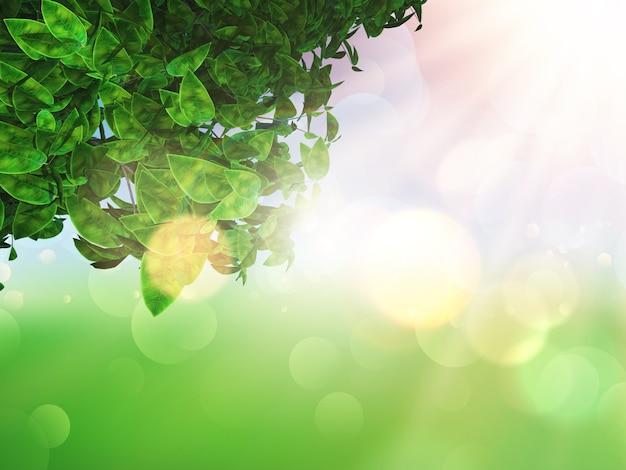 Gronda su uno sfondo sfocato di sole Foto Gratuite