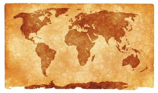 Grunge mappa del mondo Foto Gratuite