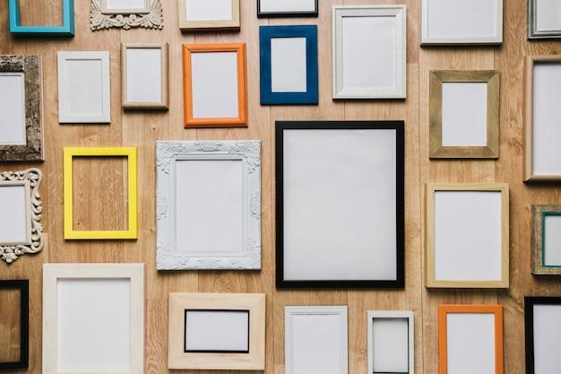 Gruppo di diversi frame di sfondo Foto Gratuite
