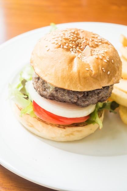 Hamburger di manzo Foto Gratuite