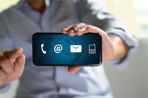 Hotline dell'assistenza clienti Foto Premium