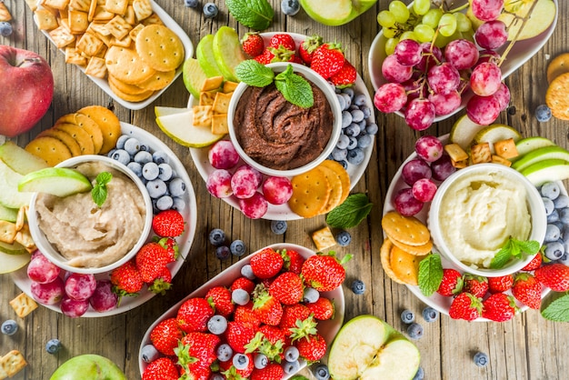 Hummus dolce fatto in casa da dessert Foto Premium