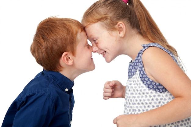 I bambini si divertono a scherzare Foto Premium
