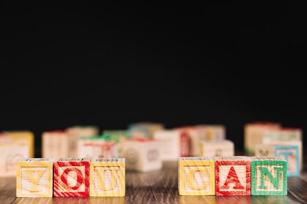 I cubi di legno con te possono intitolare Foto Gratuite
