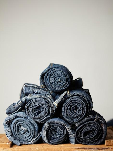 I dettagli in tessuto jeans blu Foto Gratuite