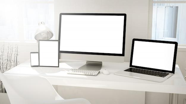 I dispositivi desktop imac Foto Premium