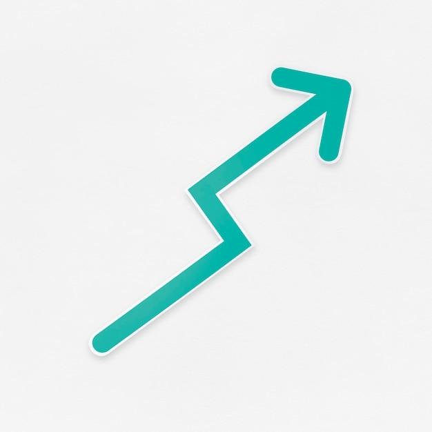 Icona della freccia di crescita isolata Foto Gratuite