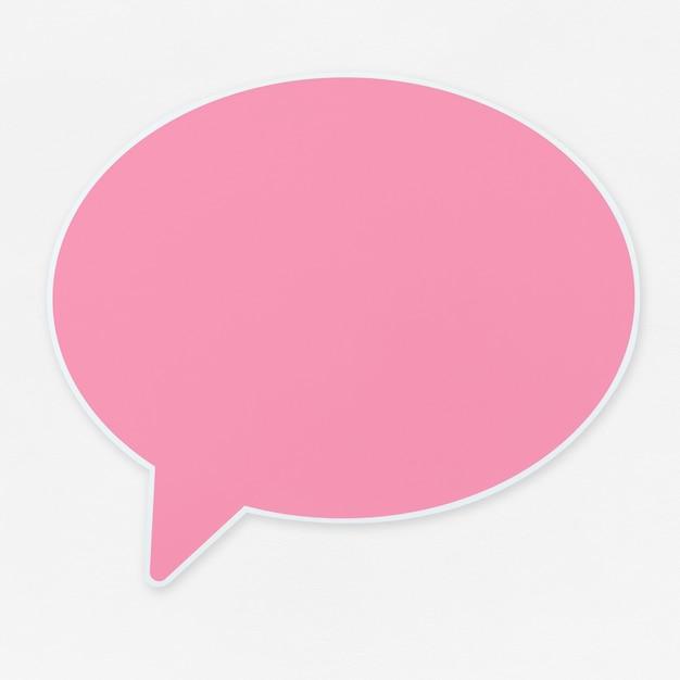 Icona di fumetto rosa isolato Foto Gratuite