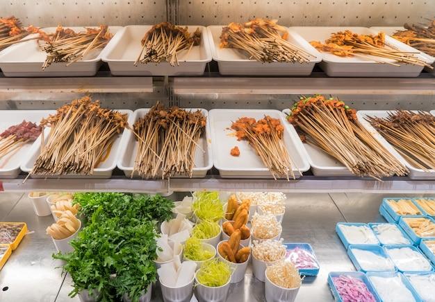 Il cibo nel ghiacciolo Foto Premium