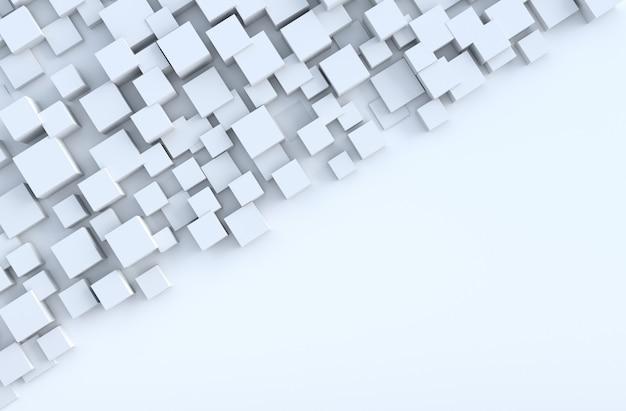 Il cubo geometrico bianco modella la priorità bassa Foto Premium