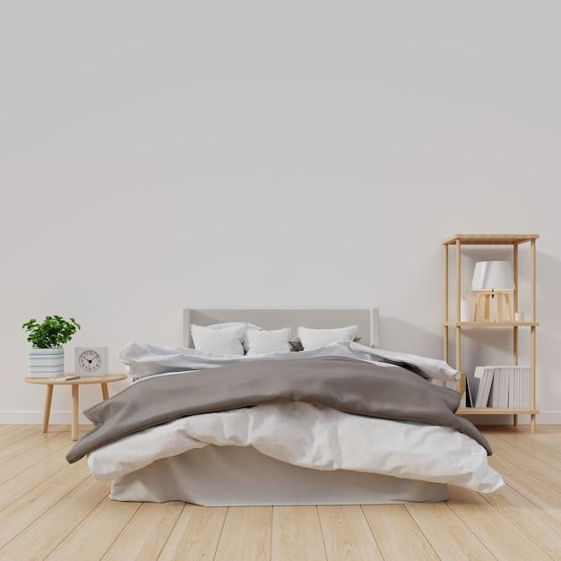 Il disegno interno della camera da letto moderna con la parete ...