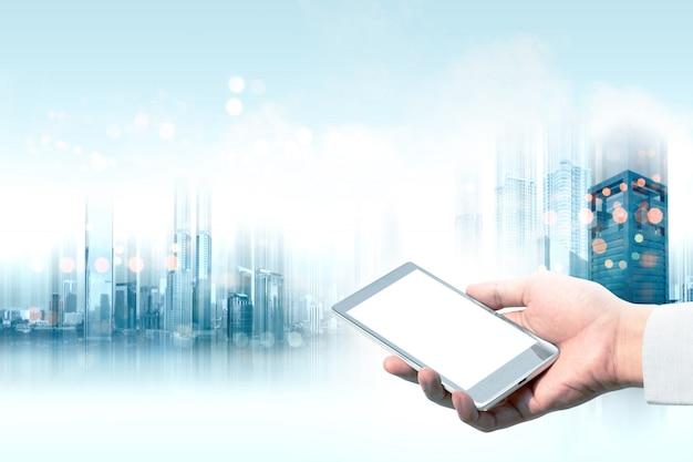 Il futuro concetto di tecnologia Foto Premium