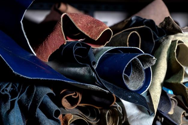 Il gruppo di cuoio colora il materiale rotabile Foto Premium