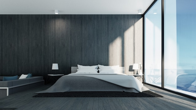 Il loft e camera da letto moderna - vista mare per vacanze ...