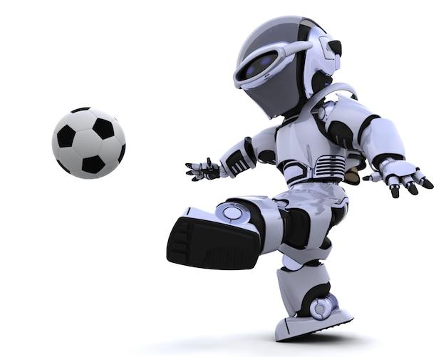 Il rendering 3d di un calcio di robot gioco scaricare for Rendering 3d online gratis