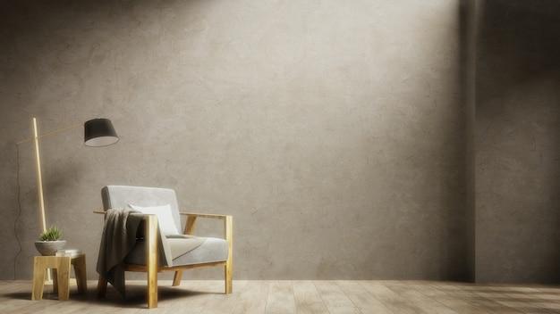 Il soggiorno contiene poltrone e lampade con una applique in
