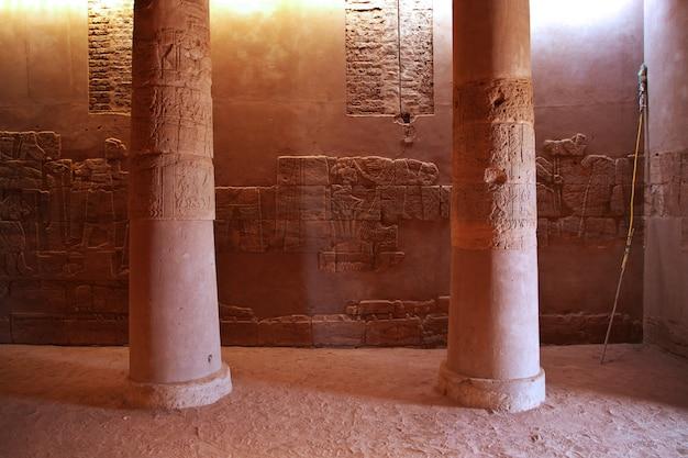 Il tempio di amon nel deserto del sudan Foto Premium