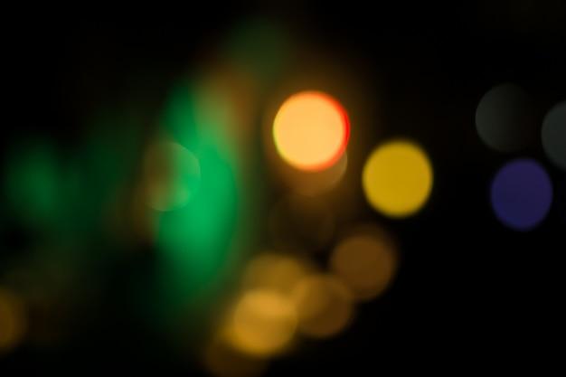 Illuminazione circolare astratta del bokeh nella notte Foto Premium