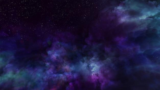 Illuminazione volumetrica del fondo dello spazio dell'universo di fantasia Foto Premium
