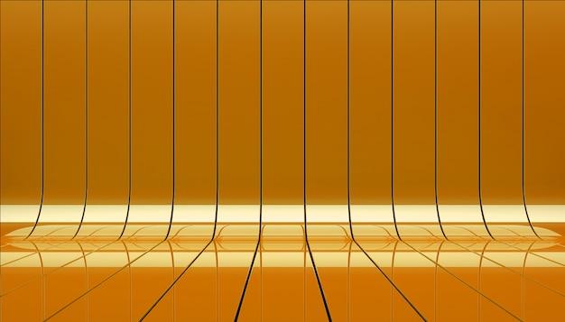 Illustrazione arancio della fase 3d dei nastri. Foto Gratuite