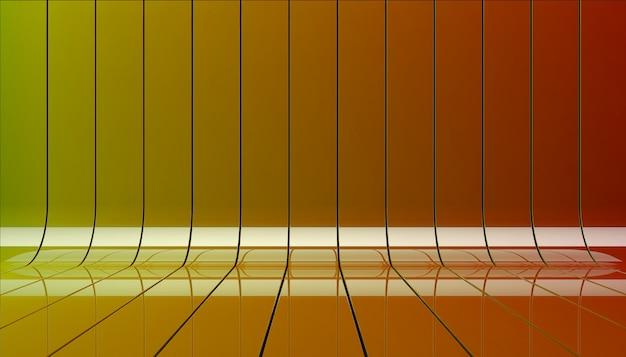 Illustrazione dei nastri 3d di colore. Foto Gratuite