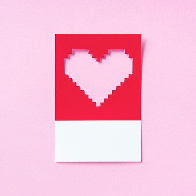 Illustrazione di pixelated a forma di cuore 3d Foto Gratuite